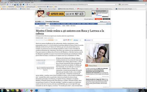 110303 El País - Mostra Cómic reúne a 40 autores con Roca y Larroca a la cabeza
