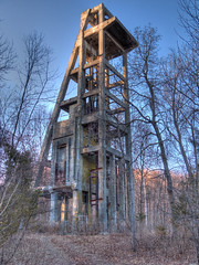 Scott Mine Hoist (jeffs4653) Tags: usa newyork building abandoned geotagged mine unitedstates hdr ironore lakeville ironmine photomatix ramapomountains tuxedopark scottmine geo:lat=4120610783 geo:lon=7424186379
