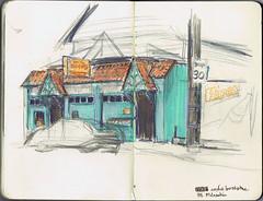 Portland SketchCrawl - Armchair Books, Brooklyn Neighborhood