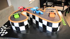 Racing Themed Cake (Creative Cakes by Ashley) Tags: two racecar checkers checkeredflag racecarcake numbercake 2cake racingcake twocake