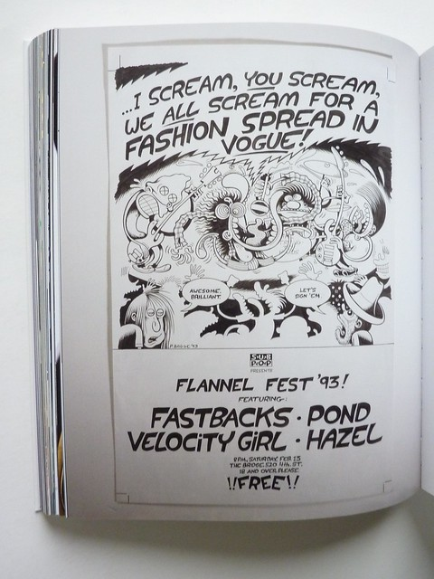 Peter Bagge poster for Sub Pop Records, as seen in Taking Punk to the Masses
