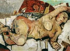Pirandello, Fausto (1899-1975) - 1948c. Awakening (Tate Gallery, London, UK) (RasMarley) Tags: 1948 nude italian awakening tate 1940s painter figure expressionism 20thcentury pirandello faustopirandello
