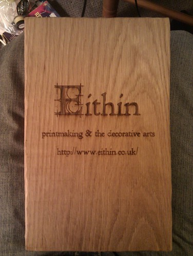 Laser-engraved hardwood sign