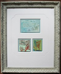 Wes Anderson -inspired Art (chelseagirl) Tags: house art home whimsy aqua pretty antique paintings drawings frame httpwwwilsabrinkcom