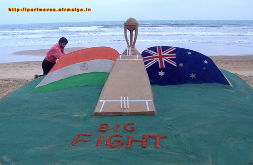 Big Fight on sand,  Sudarshan Pattnaik