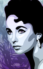 Elizabeth (Matt Lindley) Tags: painting adobe illustrator abstracts gradients adobeillustrator elizabethtaylor digitalillustration