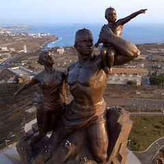 African Renaissance Monument - From Above (Jeff Attaway) Tags: africa statue westafrica senegal dakar kap kiteaerialphotography afrique autokap explored senegal africanrenaissancemonument