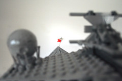 Star Destroyer in persuit of the Corillian Corvette (marvelousRoland) Tags: starwars lego stardestroyer ucs imperialstardestroyer rebelblockaderunner 10030 tantiveiv