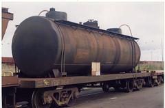 VTQF 84 H Tottenham 7/1996 (booksvic) Tags: tank railway vr wagons vline