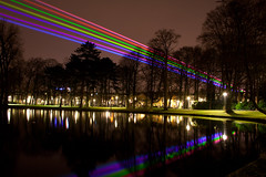 Sol Lumen #1 (Simon Bak) Tags: park light reflection simon sol netherlands colors night university utrecht laser universiteit beams bak lumen wilhelmina 375 2011