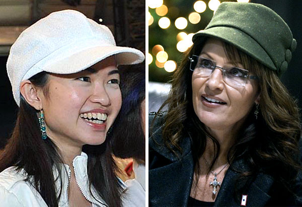 Tin Peiling and Sarah Palin