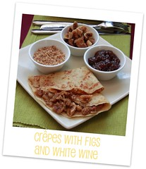 Crêpes with figs and white wine