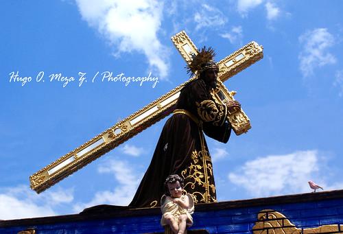 Procesión de la Iglesia de Jocotenango Sac.