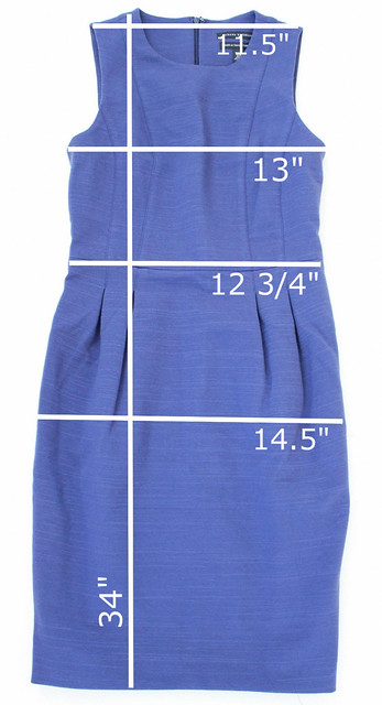 BR BLUE DRESS MEASUREMENTS
