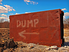 DUMP (FotoEdge) Tags: old monument saturated ancient rusty dump bluesky massive heavy crusty thedump fotoedge artfilters xz1 olympusxz1