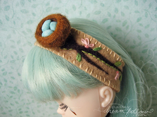 nest and eggs headband