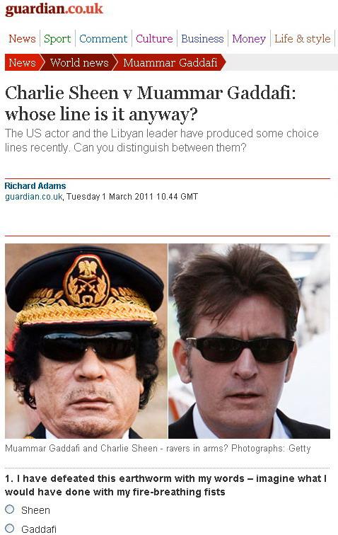 Sheen v Gaddafi
