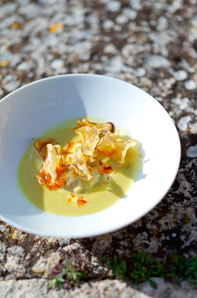 крем-суп из топинамбура от Бернара