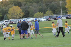 1482 (bubbaonthenet) Tags: 09292016 game stma community 4th grade youth football team 2 5 education tackle 4 blue vs 3 gold