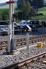 SOB - Dwarf Signal (Kecko) Tags: 2016 kecko switzerland swiss schweiz suisse svizzera innerschweiz zentralschweiz schwyz sz sob sdostbahn biberbrugg railway railroad station bahnhof bahn eisenbahn technique technik technics technology technisch signal eisenbahnsignal zwergsignal swissphoto geotagged geo:lat=47156140 geo:lon=8722510