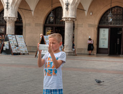 young photographer (stevefge) Tags: krakow poland tonemap boys people phone arch oldtown squares candid summer zomer reflectyourworld