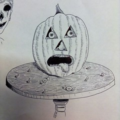 Work doodles (the ghost in you) Tags: halloween pumpkin jackolantern horror
