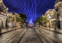 The Diamond Sky (Devin Franklin Photography) Tags: califorina southerncalifornia slowshutterspeed sleepingbeautycastle mainstreetusa mainstreet disneyparks disneylandresort disneylandpark dslr d7100 photomatixpro5 nikon nikondx highquality infocus night unitedstates usa unitedstatesofamerica urban themepark raw disneyland60thanniversary