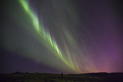 Self portrait with Aurora borealis (Benedikt Halfdanarson) Tags: norurljs northernlights auroraborealis nightsky nturhiminn stjrnur stars iceland