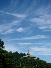 #9135 five-storeyed pagoda (五重塔) (Nemo's great uncle) Tags: keigenji 慶元寺 thepurelandschool jōdoshū 浄土宗 kitami 喜多見四丁目 setagayaku 世田谷区 tōkyō 東京 fivestoreyedpagoda 五重塔 gojūnotō