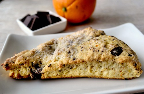 Zesty Orange and Dark Chocolate Scones