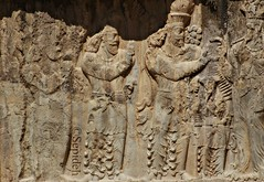 Relief of Narseh (r. 293-303) (Sepideh!) Tags: march persian ribbons shoes king iran  persia relief footwear empire pars 2010 anahita fars sepideh sasanian sassanid naqsherostam aredvisuraanahita shapurdokhtak thegoddessofthewaters reliefofnarseh r293303