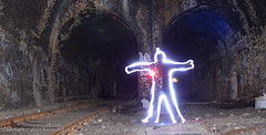 Which tunnel do I take (Mondino1980) Tags: blue light shadow red 3 vortex man flower london wool wheel train fire jump wire rust track ghost orb 8 tunnel led raymond lay armed connaught mondino murphyz
