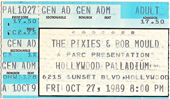 Pixies Doolittle tour ticket