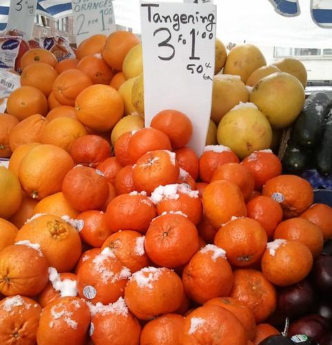 snowy tangerines