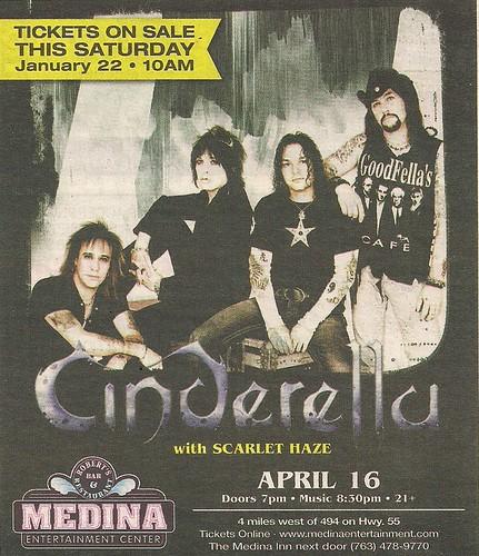 04/16/11 Cinderella/Scarlet Haze @ Medina, MN (ad)