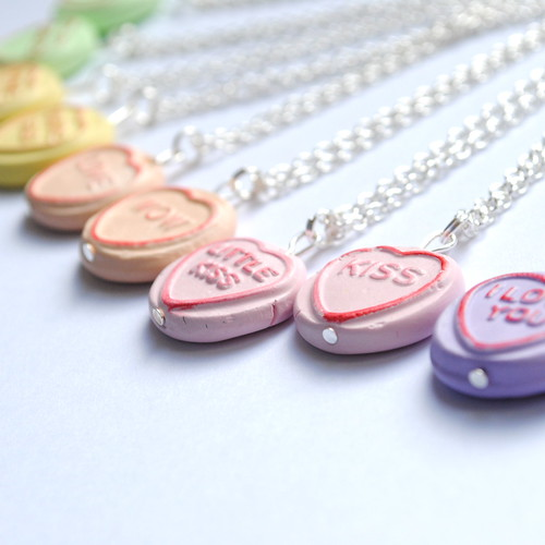 loveheart necklaces