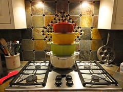 The Tower of Impossibly Priced Le Creuset (The Jaundiced Eye) Tags: cooking dutch french insane iron heaven oven display nirvana stack cast stove bargain cookware lecreuset enamel ebelskiver