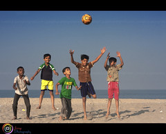 Colours Of Childhood (| JERRY |) Tags: kids football colours soccer happiness kerala celebration calicut kozhikode godsowncountry beypore kidsplayingsoccer canoneos40d jerryphotography flickrcalicut flickrkozhikode jerrycalicut calicutshutterbugs