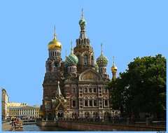 St. Petersburg, Russia - Cathedrals 1 (5 pictures) (jackfre2 (on a trip-voyage-reis-reise)) Tags: trees building gold canal colours russia bluesky saintpetersburg domes frescoes russianstyle churchofoursavioronthespilledblood gildeddomes emperoralexanderii kanalgriboyedova tripleniceshot mygearandme mygearandmepremium mygearandmebronze
