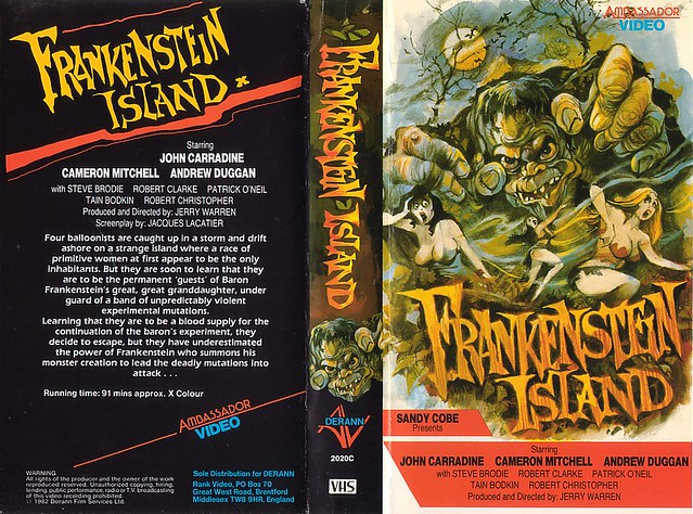 FRANKENSTEIN ISLAND (VHS Box Art)