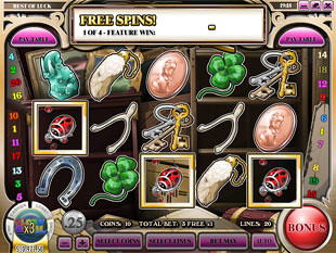 free Best of Luck slot free spins 1