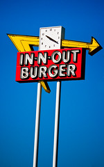 In-N-Out Burger (TooMuchFire) Tags: signs typography neon fastfood restaurants roadsigns roadsideamerica innoutburger innout baldwinpark neonsigns lightroom arrowsigns oldsigns vintagesigns fastfoodrestaurants sangabrielvalley vintagesignage canon30d oldneonsigns 13850francisquitobaldwinparkca