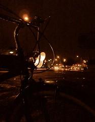 Bike at Night () Tags: classic beach bike bicycle night washington retro tacoma ghetto cruiser beachcruiser