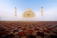 Taj in the Mist (nawapa) Tags: india love monument architecture taj tajmahal mausoleum nawapa
