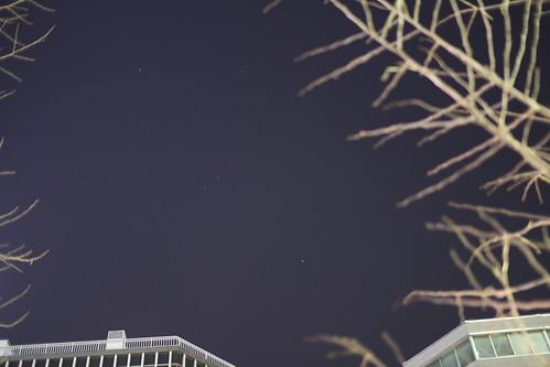 コクーンタワー前からのオリオン座