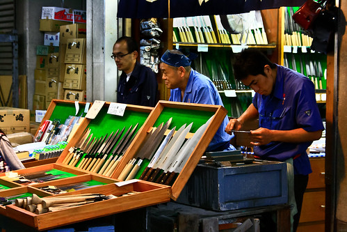 Cuchilleros en el Mercado de Tsukiji
