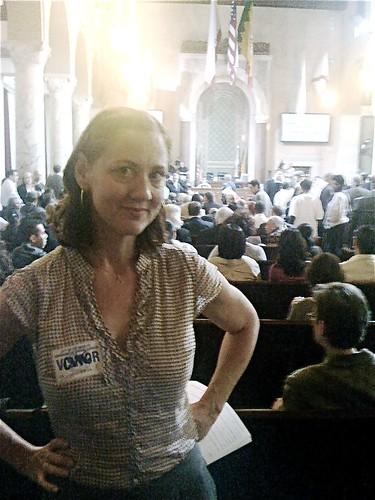 Danielle Brazell at City Hall
