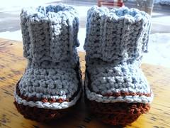 Booties (LadeeBee_1) Tags: toronto oneofakind ooak crochet booties babybooties vintagebabyrevival