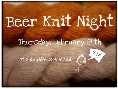 Feb Beer Knit Night