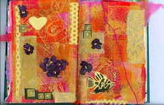 Continuum - St. Valentine (Imajica Amadoro) Tags: pink red fish abstract detail art collage ink garden paperart design miniature asia outsiderart handmade originalart mixedmedia contemporaryart tissue small fineart culture mini valentine tiny alteredbook stvalentine artbook bookart goldleaf artjournal alteredart continuum stvalentinesday papercollage organicart artistsbooks abstractcollage tornpapercollage cutpapercollage paperglass mommsen alteredbookpages outlanderart alteredpages arttissue alteringbooks catherinelmommsen catherinemommsen hadmadeart